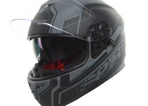 Street-Grey-Motorcycle-helmet-front-view